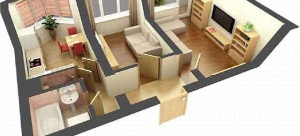 Особенности и лучшие виды планировки двухкомнатной квартиры