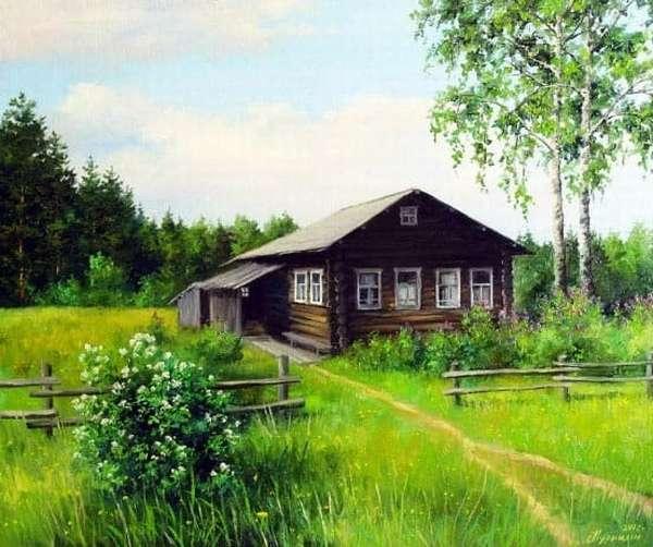 Деревенский старый дом