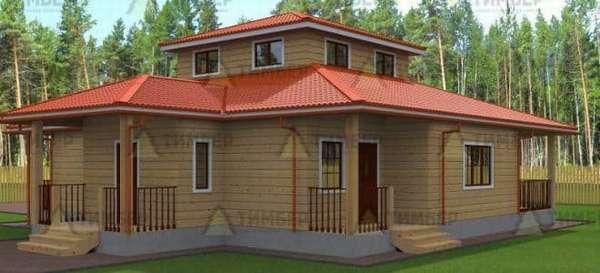 Проектирование одноэтажного дома 12 на 12 с тремя спальнями: правильное распределение пространства