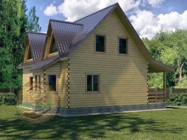 Дом 10х10 с мансардой из бруса