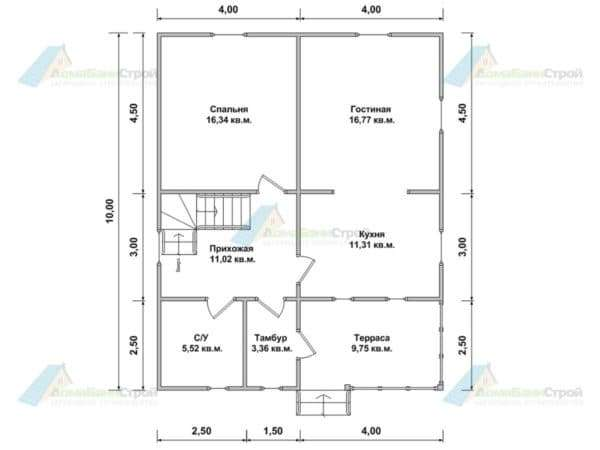 Планировка дома 8 на 10_2