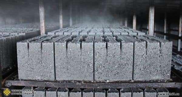 Просушка керамзитобетонных блоков