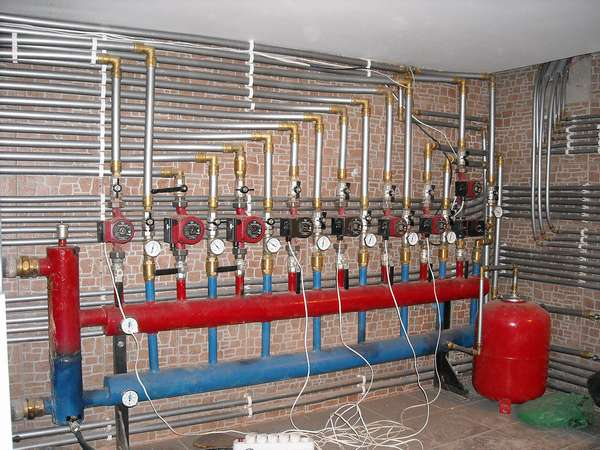 Разводка системы парового отопления