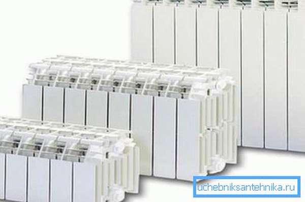 Ассортимент типоразмеров алюминиевых батарей