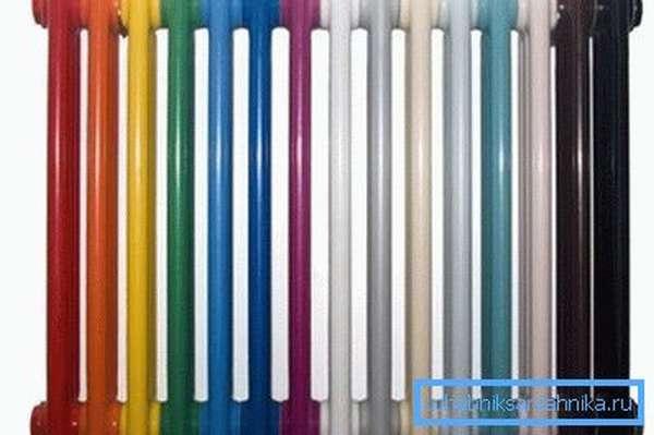 Ассортимент цветовых исполнений термостойкого покрытия