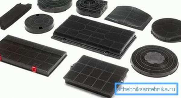 Ассортимент угольных фильтров для тонкой очистки воздуха
