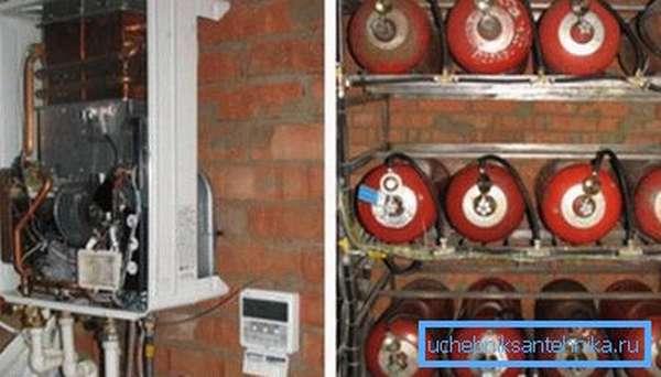 Автономная система отопления с применением сжиженного газа