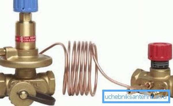 Балансировочные краны для системы отопления из латуни