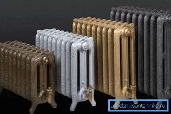 Батареи из чугуна в старинном стиле
