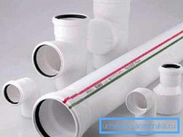 Бесшумные пластиковые трубы для канализации