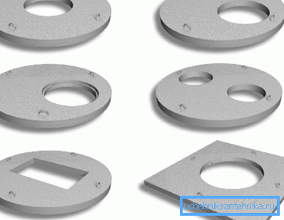Бетонные перекрытия, в которых сделаны отверстия ля люков