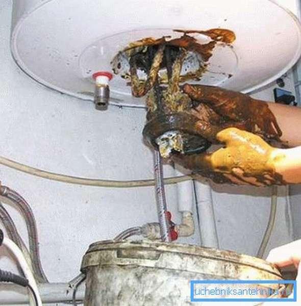 Без ухода водонагреватель быстро придет в негодность