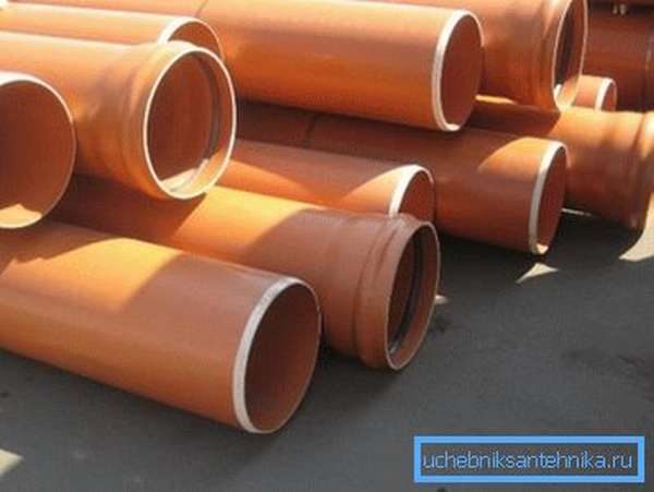 Безнапорные канализационные трубы