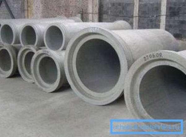 Безнапорные трубы различного использования