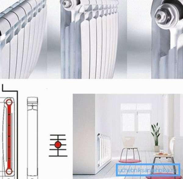 Биметаллические радиаторы обладают высокой теплоотдачей каждой секции