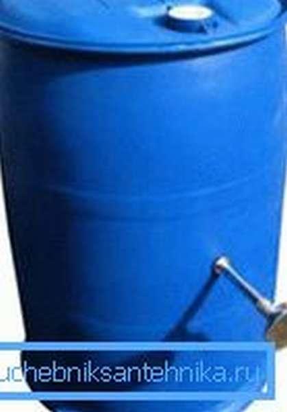 Бочка для душа 220 литров с подогревом рассчитана на большое количество пользователей