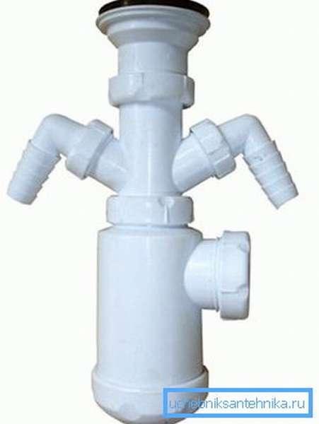 Боковые отводы позволяют подключать бытовую технику