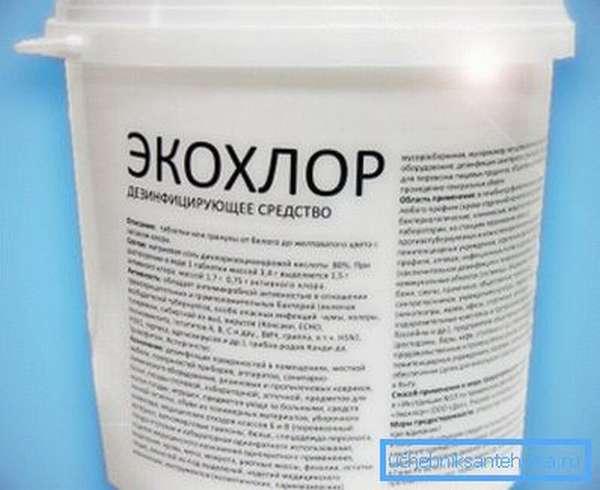 Большая часть дезинфицирующих средств содержат в своем составе хлор