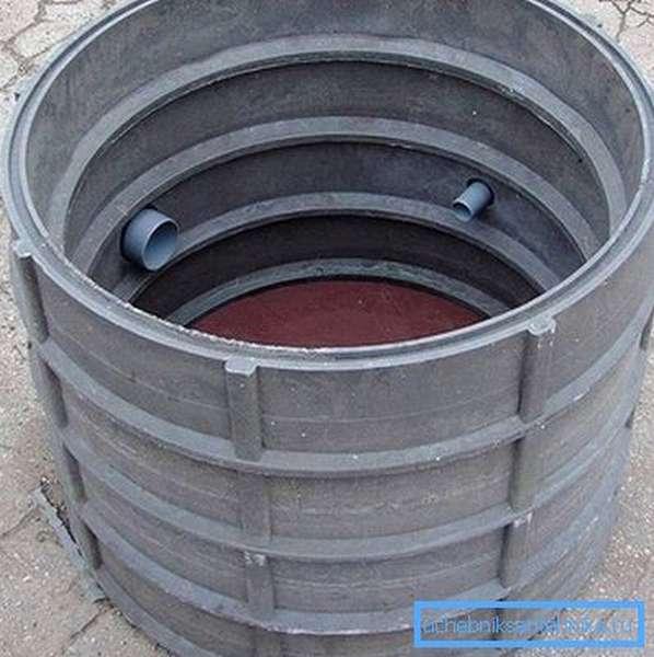 Большие кольца для наборных канализационных колодцев