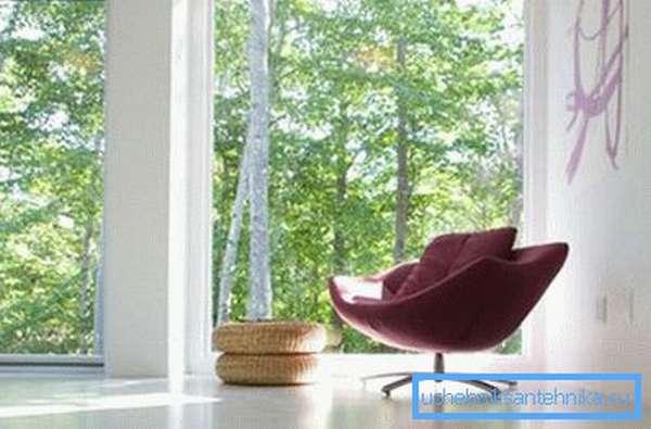 Большие окна на солнечной стороне позволят снизить расходы на отопление