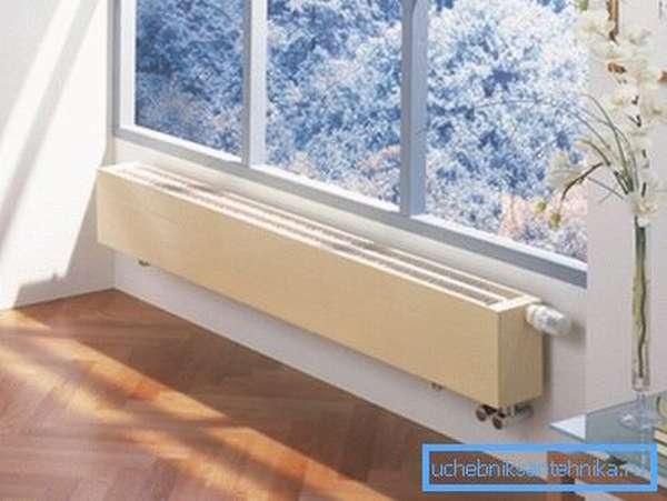 Большое окно требует установку низкого изделия.