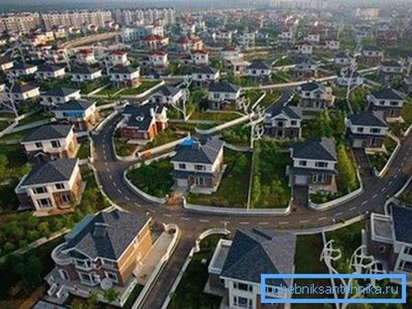Частный пригород – логичное расширение для большого города.