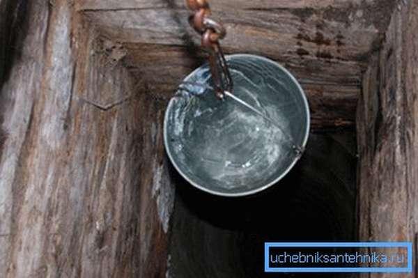Чистая вода из колодца.
