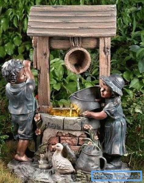 Чудесные скульптуры вашего сада сделают колодец еще более прекрасным