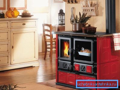 Чугунная отопительно-варочная печь