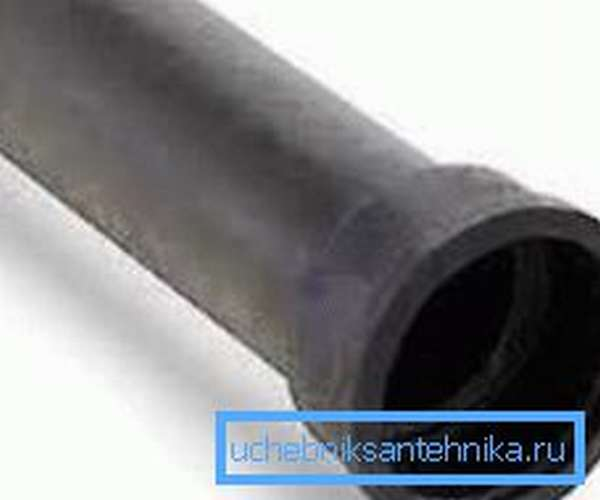 Чугунная труба диаметром 160 мм