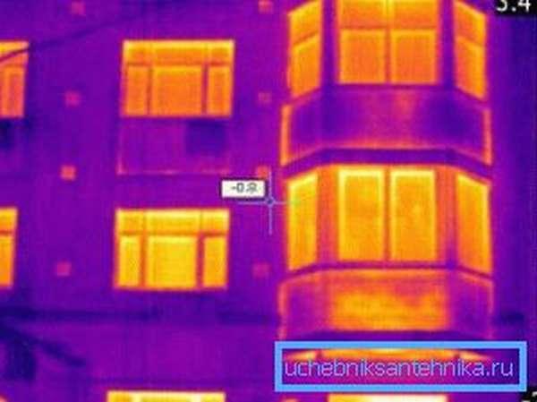 Данные тепловизионного обследования многоэтажного дома