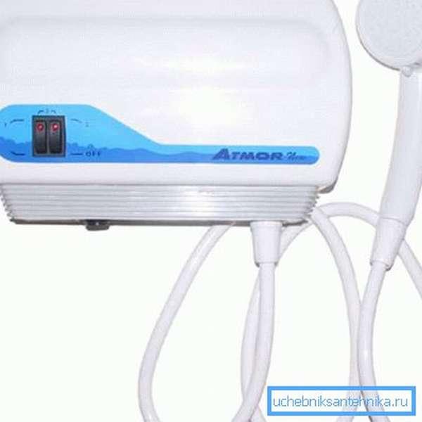 Датчик не даст проточному нагревателю включиться при давлении воды ниже 0,3 кгс/см2.