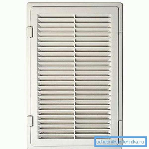 Декоративная вентиляционная панель с дверцей