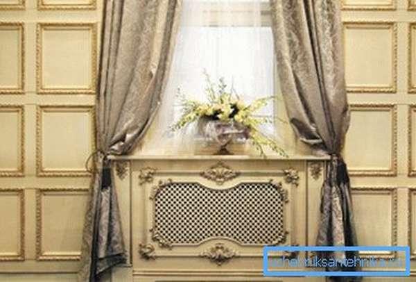 Декоративные решетки позволяют более органично вписать радиаторы отопления в интерьер комнаты