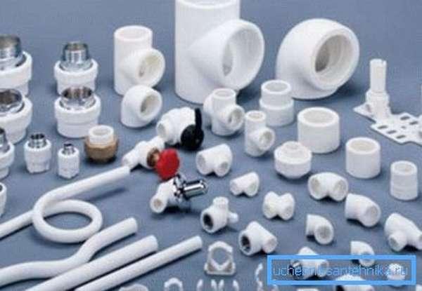 Детали для пластикового трубопровода