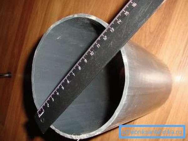 Для канализации подойдет толщина стенки 3,2 мм