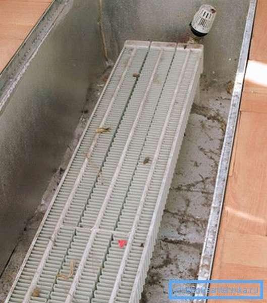 Для монтажа безкопрусных устройств нужно обустроить специальную нишу