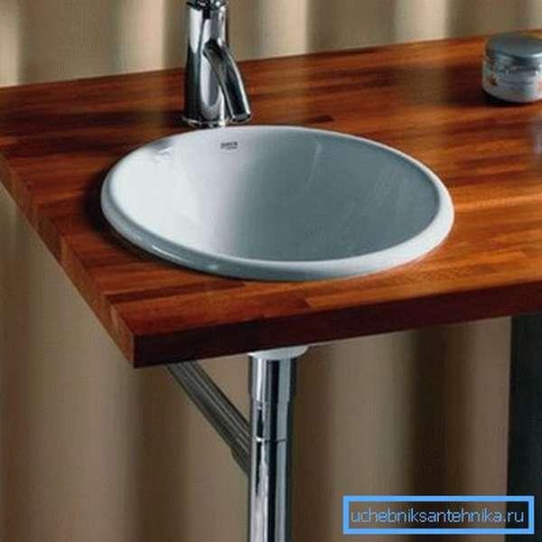 Для небольших ванных можно подобрать миниатюрную модель.