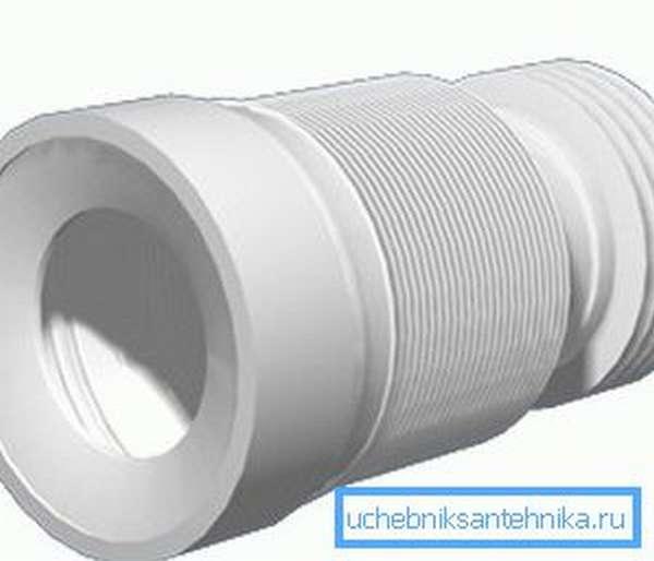 Для подключения инсталляции к канализационной трубе можно использовать гофрированную манжету