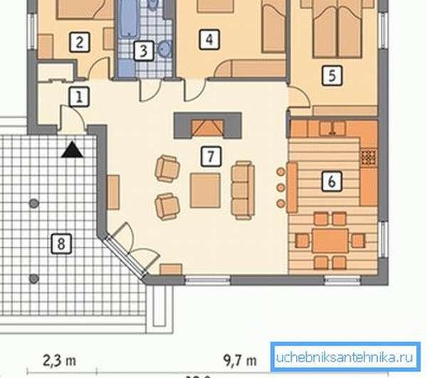 Для расчета мощности отопления необходимо иметь проект дома