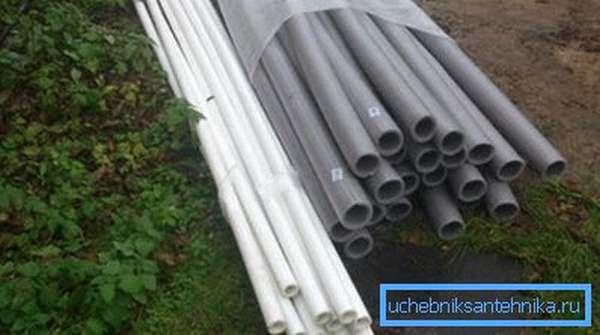 Для водопровода рекомендуем использовать пластиковые трубы