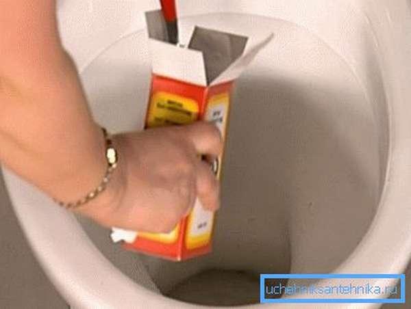 Добавление соды перед использованием кипятка