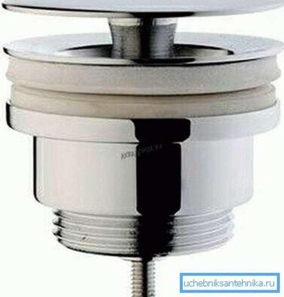 Донный клапан позволяет экономить воду, и очень популярен на Западе