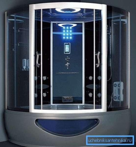 Душевая кабина 1500х1500 мм – это полноценная система, которая значительно превосходит возможности любой ванны