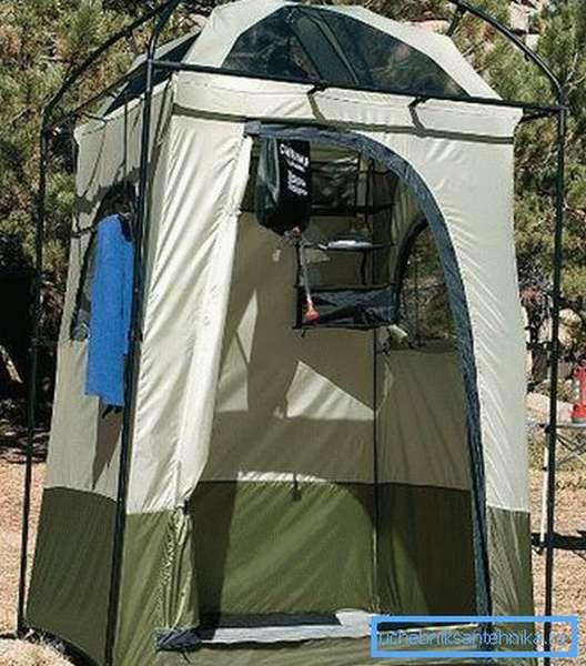 Душевая палатка для походных условий