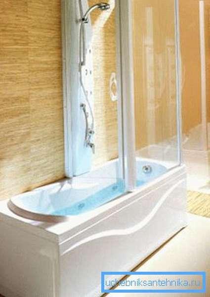 Душевые боксы с ванной 170х90 см способны полноценно вместить в себе взрослого человека в лежачем положении