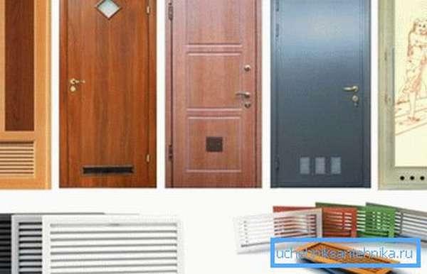 Двери с вентиляционными отверстиями, которые можно устанавливать при организации доступа в подобные помещения