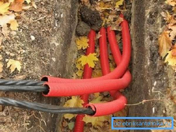 Двухслойная гофрированная труба для монтажа кабелей