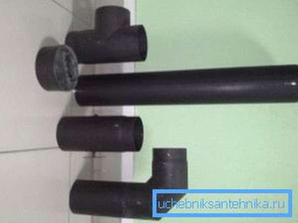 Дымовые черные трубы для дымохода