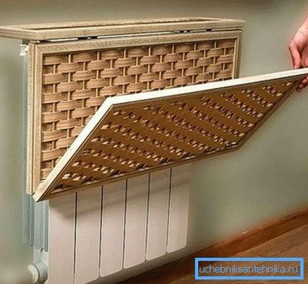 Экран для декорирования радиатора
